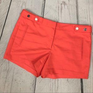 Zara Coral High Rise Dress Shorts